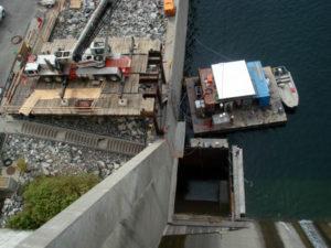 Chief Joseph Dam Crane Platform