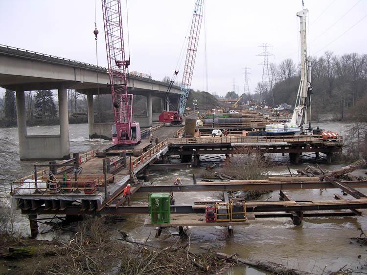 I 5 Willamette River Bridge Crane Trestle 2