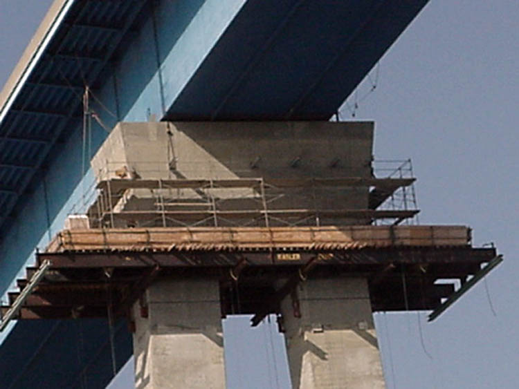 Coronado Bay Bridge Pier Retrofit Falsework 3