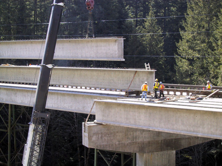 Santiam Hwy Girder Erection 6