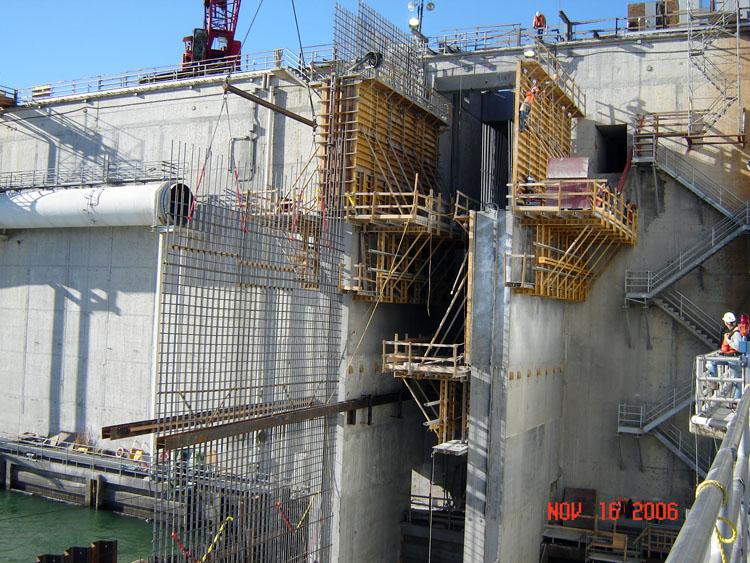 Wanapum Dam Fish Bypass Wall Rebar Template