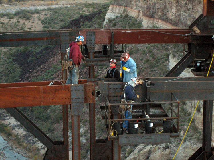 Burro Creek Bridge Crew Erection 1