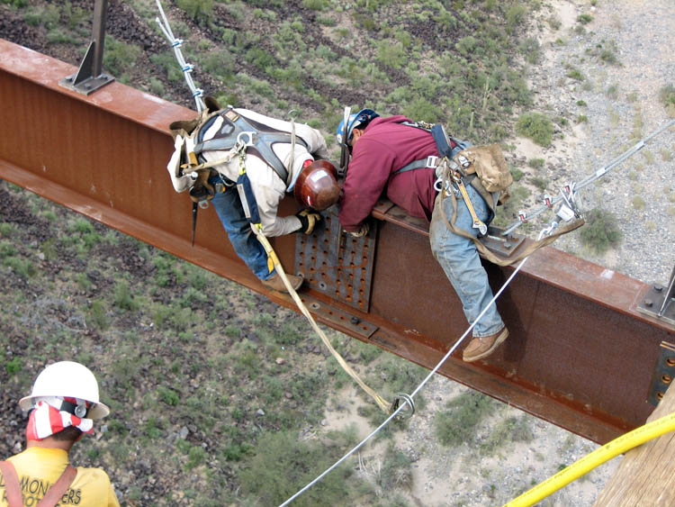 Burro Creek Bridge Crew Erection 11