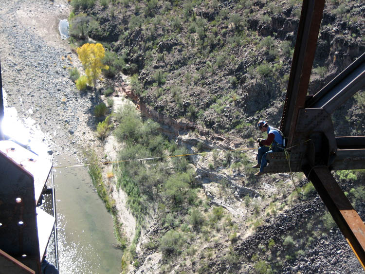 Burro Creek Bridge Crew Erection 14