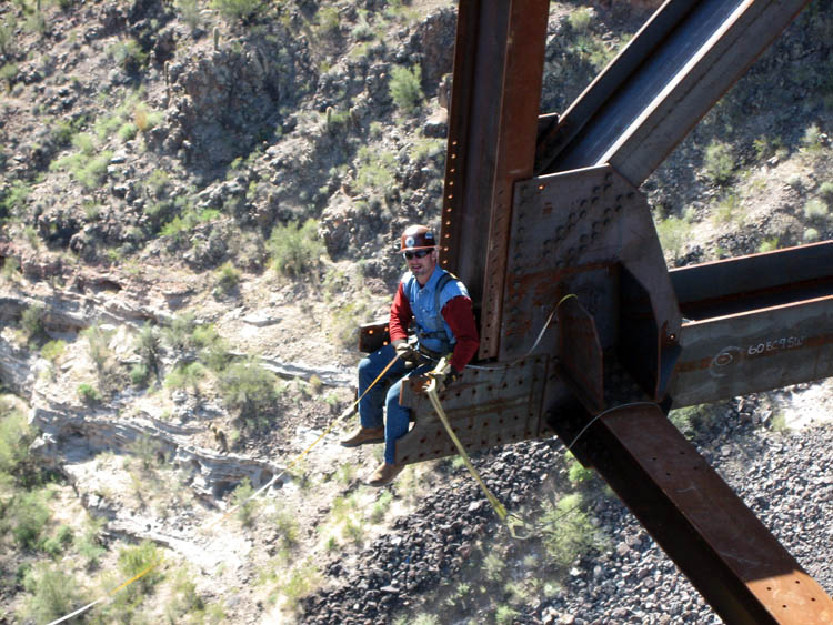 Burro Creek Bridge Crew Erection 15