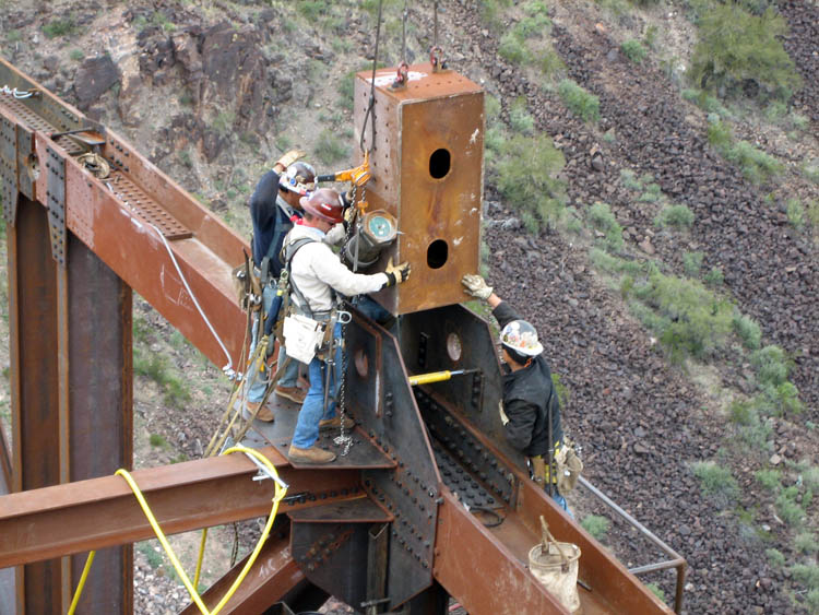 Burro Creek Bridge Crew Erection 5