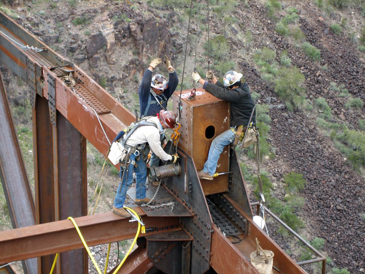 Burro Creek Bridge Crew Erection 6