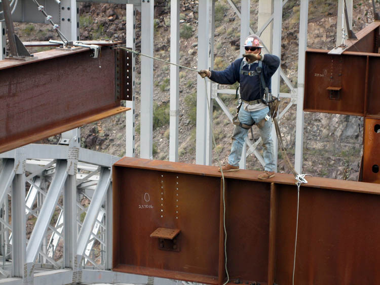 Burro Creek Bridge Crew Erection 7