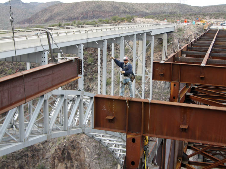 Burro Creek Bridge Crew Erection 8