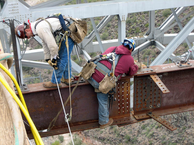 Burro Creek Bridge Crew Erection 9